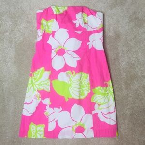 Lilly Pulitzer Tie Back Mini Dress Strapless